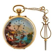 Reuge Romance No. 188 erotic musical pocket watch 2 1/4