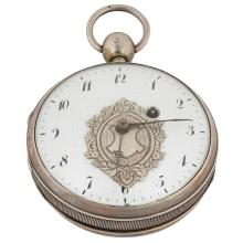 Concealed Erotic open face pocket watch 2 1/8