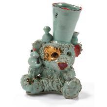 "Casey O'Connor, (American, 20th/21st century), Watcher, 1997, glazed ceramic, 8.75""h x 6""w x 4.5""d"