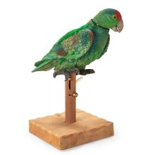 Albert Alfaro, Pepi, 2004 (together with another bird), ceramic with mixed media, 14