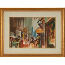 Milford Zornes, (American, 1908-2008), Untitled, 1954, watercolor, 14