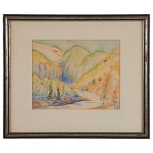Dudley Crafts Watson, (American, 1885-1972), In the Guadaramas, watercolor, 8.75
