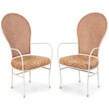 Milo Baughman for Thayer Coggin armchairs, pair 22