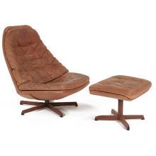 Danish lounge chair and ottoman 32.5