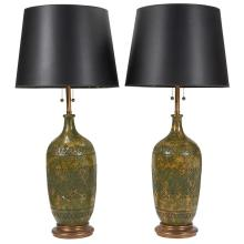 Marbro Lamp Co. table lamps, pair overall: 9.5