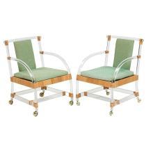 Mid-century Modern armchairs, pair 25