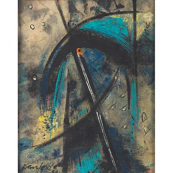 Walter Sanford, Abstract Composition, oil