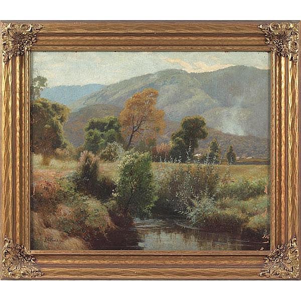 John Mather, Mountain Landscape, oil
