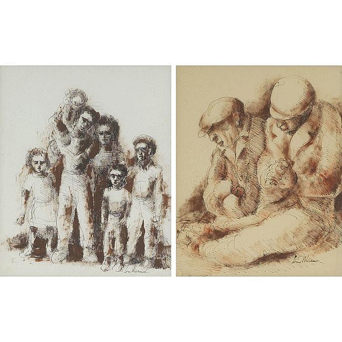 Louis Wolchonok (American, 1898-1973) lot of two