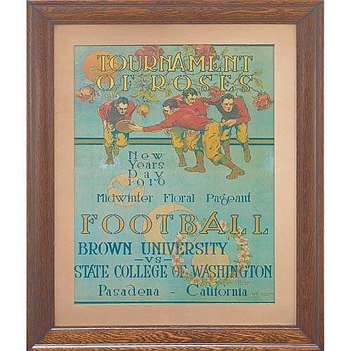 Tournament of Roses poster, 'New Years Day 1916,' original f