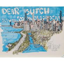 Bill Olendorf, (American, 1924-1996), Dear Butch Get Well Soon You Old S.O.B., 1982 (together with a group of six prints, seven work...