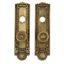 Architectural Hardware, of Chicago Interest Cook County door plates set, two each with knobs plates: 3 1/2