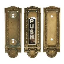 Architectural Hardware, of Chicago Interest Cook County door plates set, three plates: 4 1/4