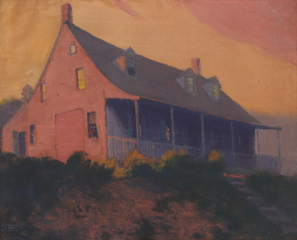 William Hurd Lawrence, House at Twilight, oil/canvas