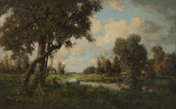Robert Crannell, Jr. Minor, The Wold of Kent, England, oil/canvas