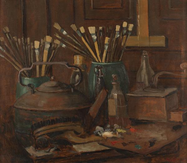Charles W. Dahlgreen, Still Life, oil/board