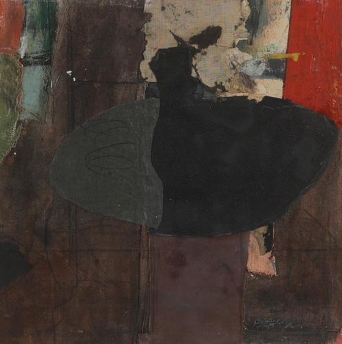 Henry Botkin, Abstract, collage and oil