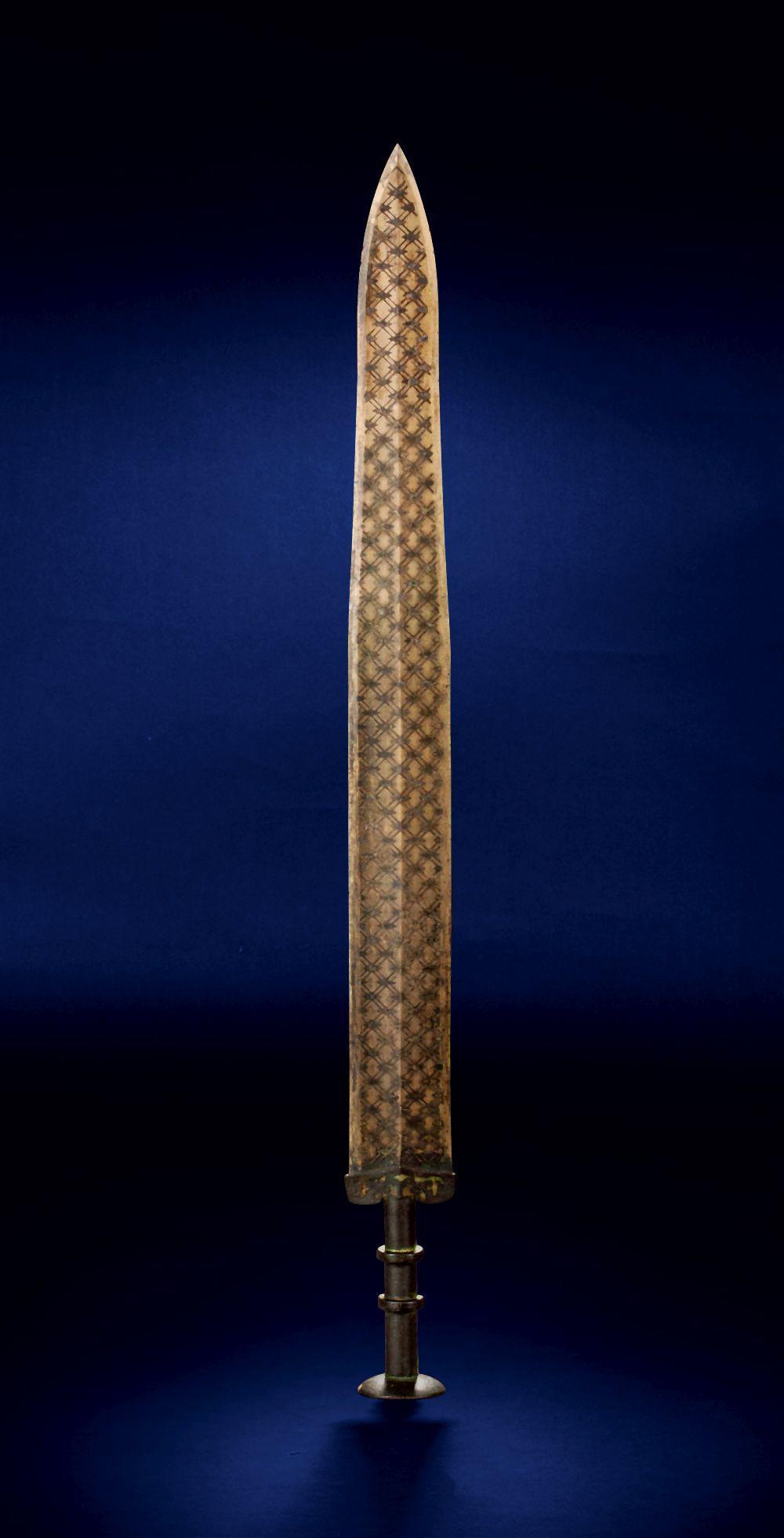 TREASURE INLAID SILK MIX COPPER SWORD