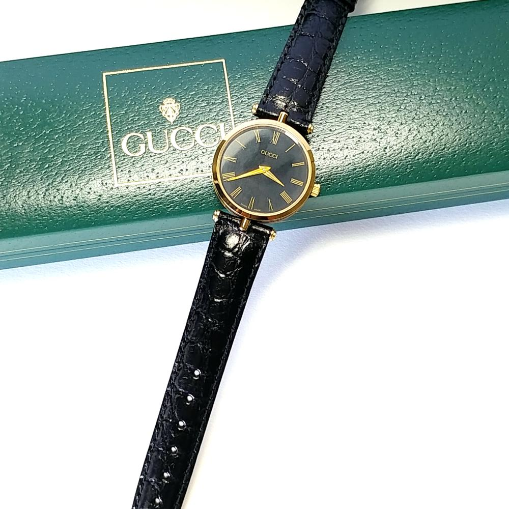 GUCCI WRISTWATCH ROMAN NUMERALS BOX/PAPERS