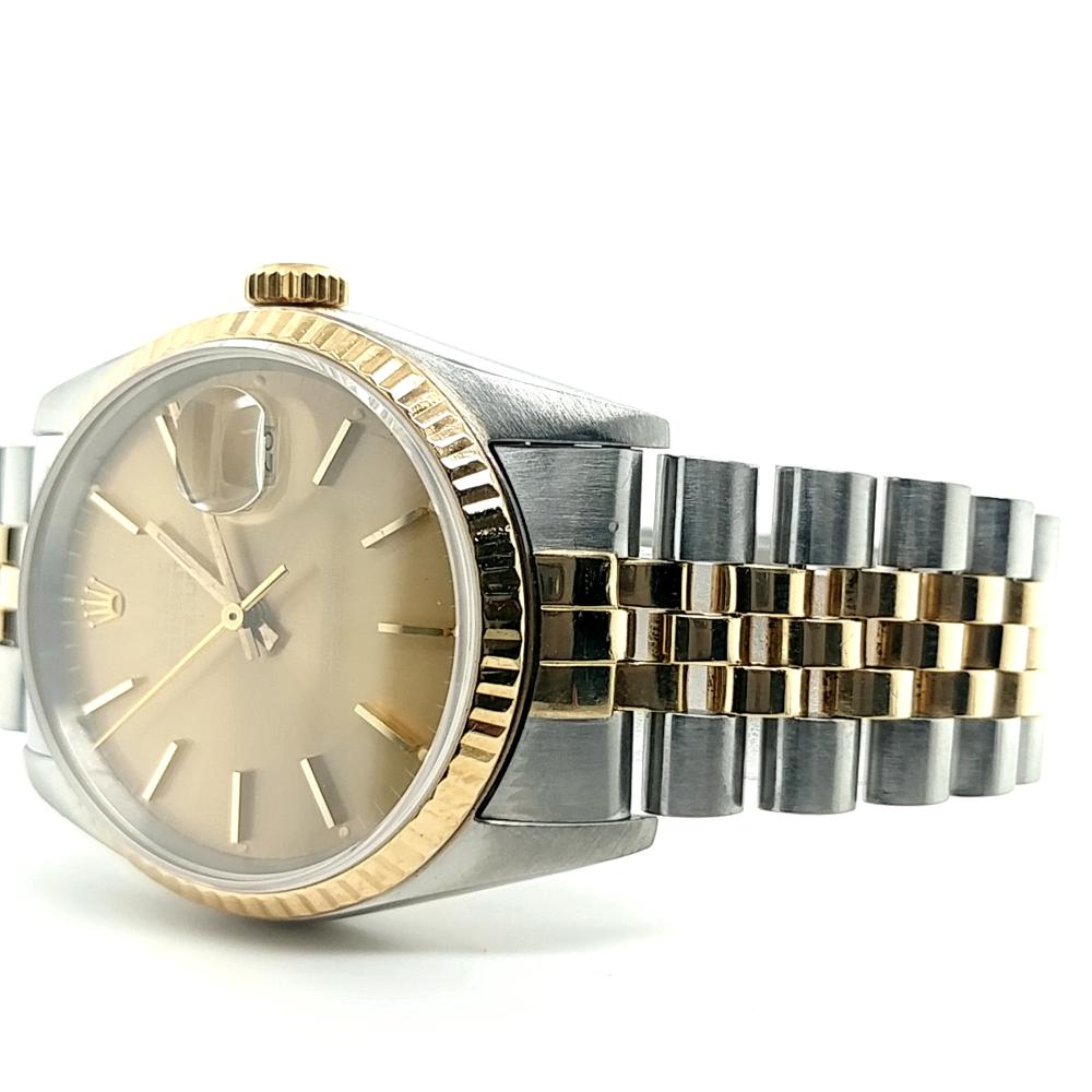 GENT'S TWO TONE OYSTER PERPETUAL DATEJUST ROLEX WATCH