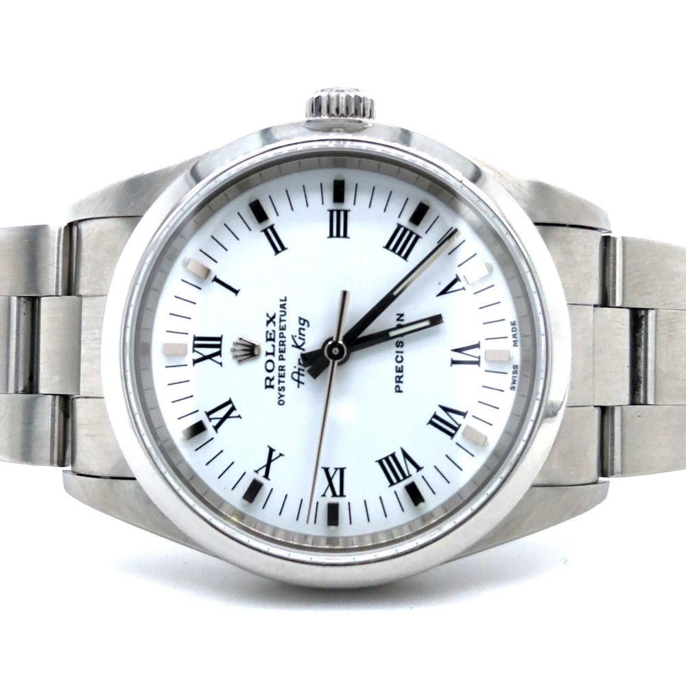 GENT'S ROLEX AIR-KING PRECISION STAINLESS WRISTWATCH