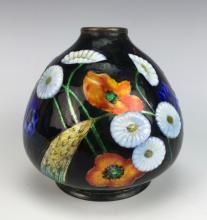 a62ae34633a Camille Faure (1875-1956) Art Deco Enamel Vase