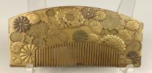 Japanese Gilt Decorated Comb