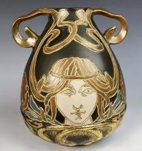 Owens Henri Deux Art Nouveau Pottery Vase