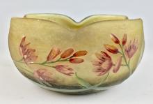 Daum Nancy Bowl w/ Red Flowers