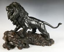Japaneze Bronze Lion Meiji Period
