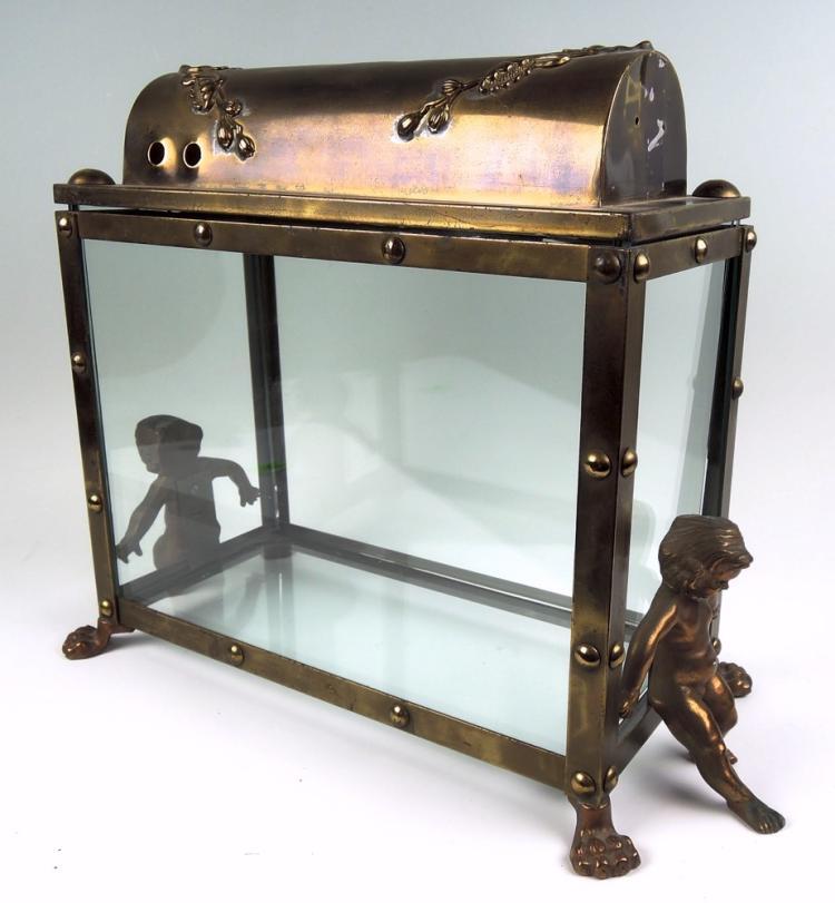 Art nouveau putti fish tank for L fish furniture