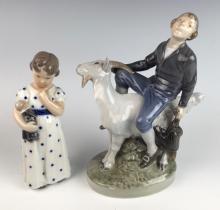 Royal Copenhagen 2 Porcelain Figurines