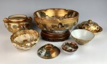 7 Fine Satsuma Items Meiji Period