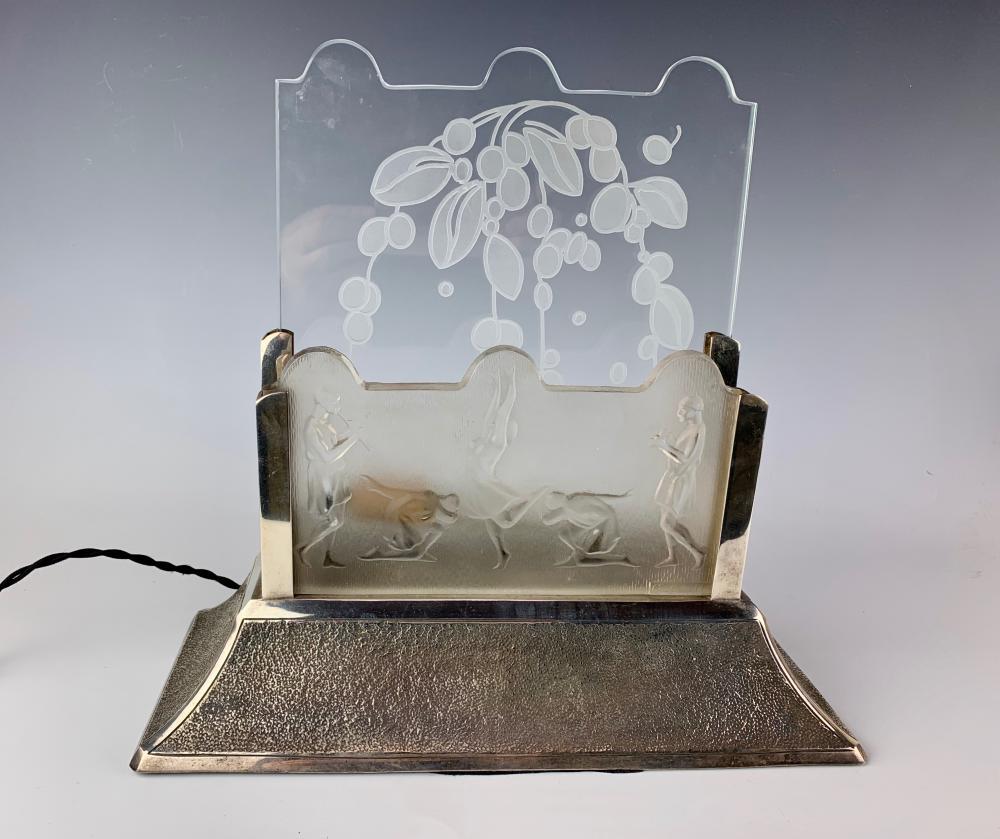 art deco luminaire signed costebelle c 1920. Black Bedroom Furniture Sets. Home Design Ideas