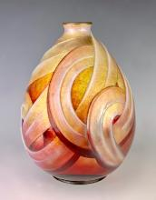 Camille Faure Art Deco Enamel Vase