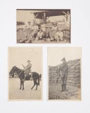 Six vintage photographs of 495 Trooper Owen Burton Hunter (7th Light Horse)