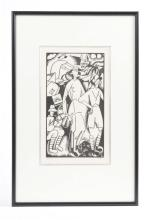 LABOUREUR: 'ANZACS'. A signed original woodcut