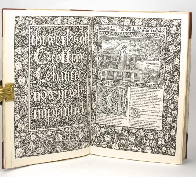 The Works of Geoffrey Chaucer [a facsimile edition of the Kelmscott Chaucer]