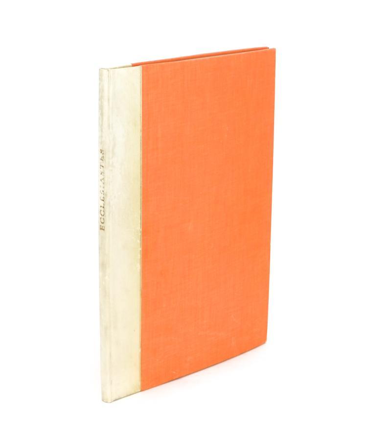Ecclesiastes, or The Preacher (Golden Cockerel Press, 1934)