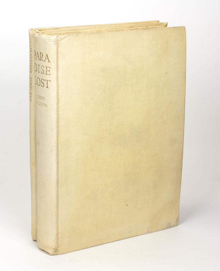 MILTON, John: Paradise Lost and Paradise Regain'd (Cresset Press, 1931)