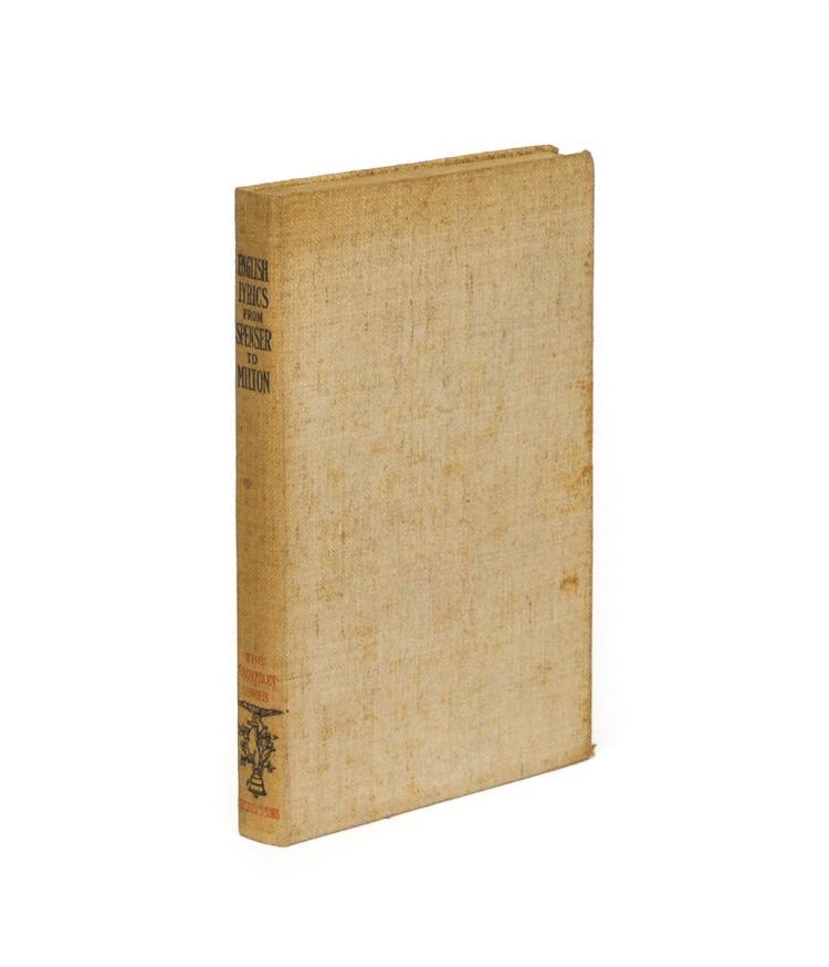 English Lyrics from Spenser to Milton (1898, signed by illustrator Robert Bell)