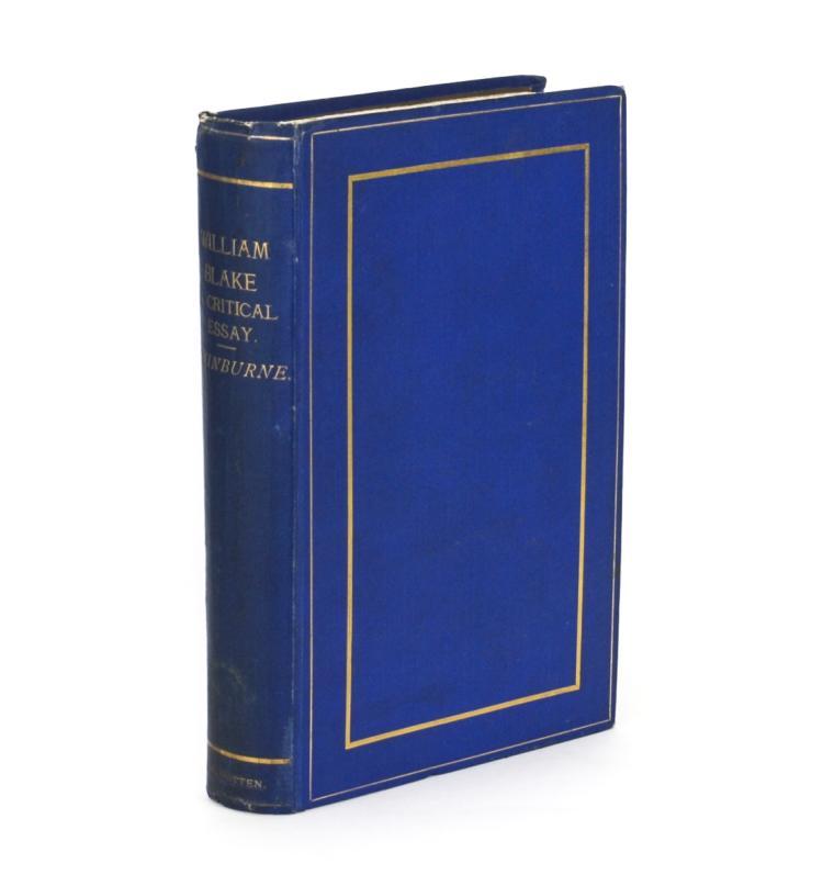 SWINBURNE, Algernon Charles: William Blake. A Critical Essay (1868)