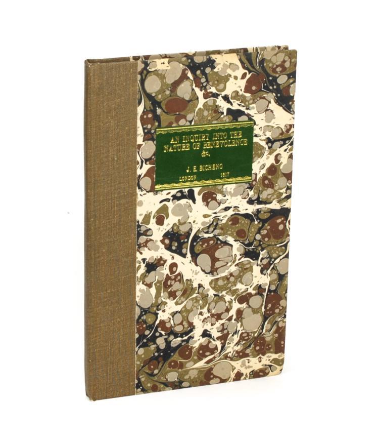 BICHENO, James: An Inquiry into the Nature of Benevolence (1817)