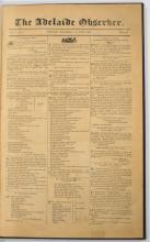 [Charles STURT]: The Adelaide Observer. Volume 1, Numbers 1-79, 1843-44