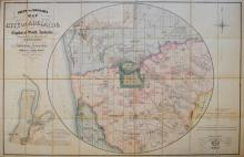 Map. STANFORD: Green & Wadham's Map of Adelaide (c. 1860)