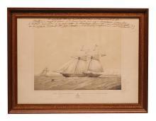 Schooner Yacht 'Nancy Dawson' with interesting inscription