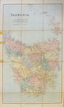 Map. BARTHOLOMEW: Philips' Map of Tasmania (c. 1864)