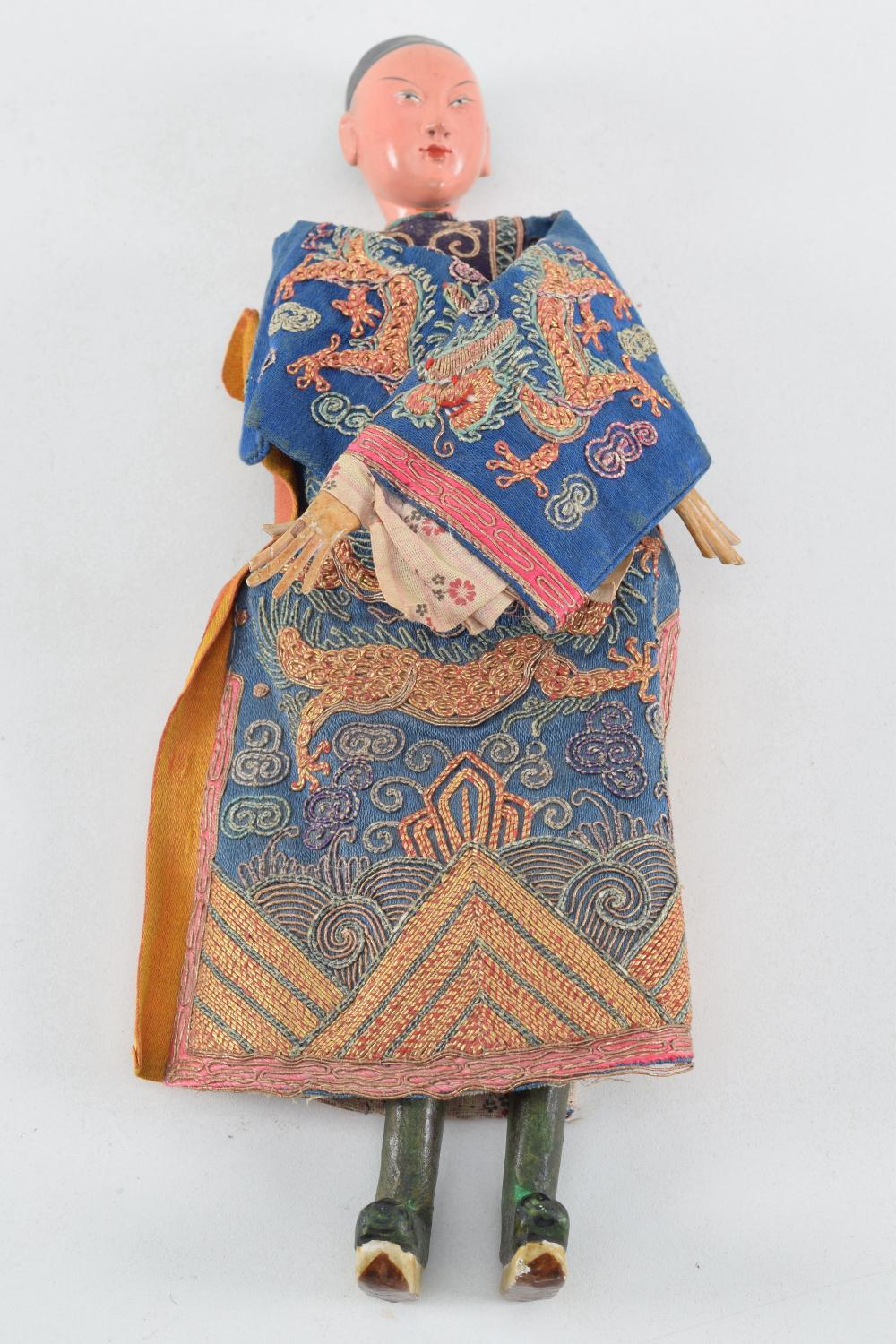 Chinese doll. Early 20th century. Costume of
