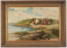 Edward A. Page. North Shore oceanfront landscape with