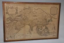 Alexis Hubert Jaillot (French 1632-1712) map of Asia,